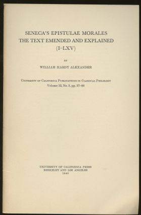 Seneca's Epistulae Morales: The Text Emended and Explained (I-LXV)--Volume 12, No. 5, pp. 57-88....