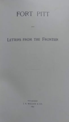 Fort Pitt and Letters from the Frontier