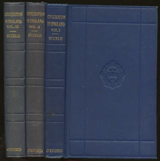 History of Civilization in England: Volumes I, II, and III [Three volume complete set]. Henry...