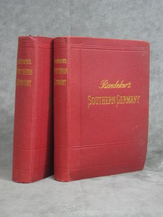 Handbook for Travellers (2 Vols.) - Northern Germany as far as the Bavarian and Austrian Fontiers...