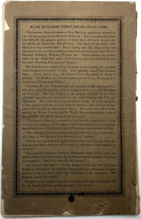 Pittsburgh, Her Advantageous Position and Great Resources, as a Manufacturing and Commercial City, Embraced in a Notice of Sale of Real Estate