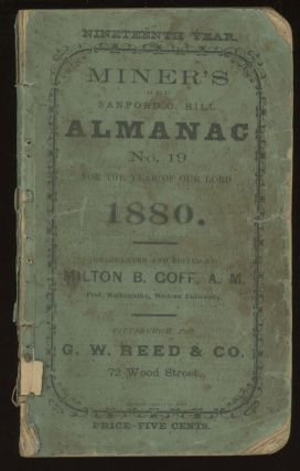 Miner's Old Sanford C. Hill Almanac No. 19, On a....