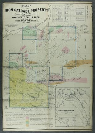 Map of the Iron Cascade Property Comprising 3120 Acres, Situated in Marquette Co. L. S. Mich....