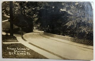 Ben Avon, PA (suburb of Pittsburgh): Real Photo Postcard / RPPC ca. 1910 of street
