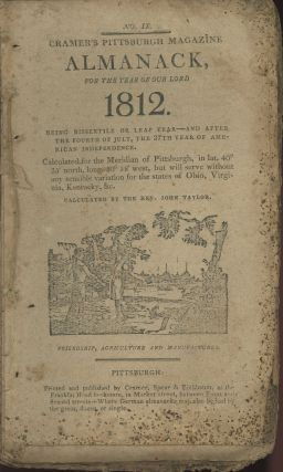 Cramer's Pittsburgh Almanack for the Year of our Lord 1812