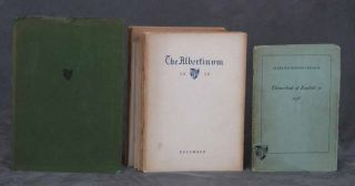 Lot of 12 Albertus Magnus College literary journals and a yearbook, dating between 1936-1939,...