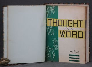 Thought and Word: Vol. 1 No. 1 through Vol. 1 No. 11 (11 issues bound in one book)