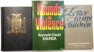 Three Books Inscribed And Written By Kenneth Kaunda - A....