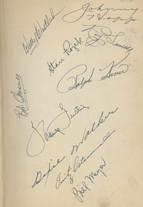 The Pittsburgh Pirates--Signed by ten old time Pirates, including Hall of Famer Ralph Kiner!)