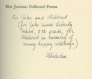 Blue Juniata: Collected Poems (INSCRIBED)