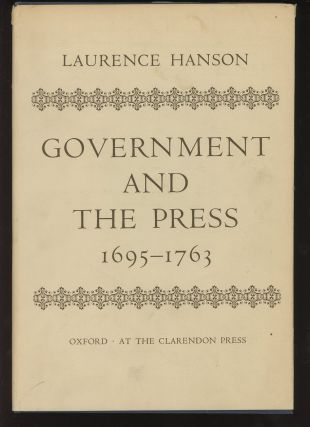 Government and the Press, 1695-1763