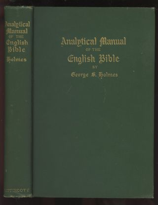 Analytical Manual of the English Bible