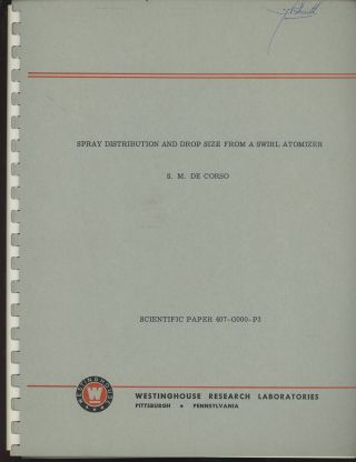 Three Westinghouse Research Laboratories Reports by S. M. De Corso...