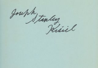Greetings and Hallucinations, Signed by Joseph Stanley Kisiel