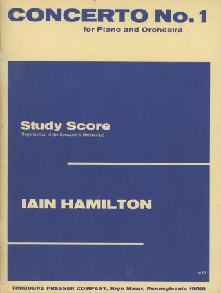 Concerto No. 1 for Piano and Orchestra: Study Score (Reproduction of the Composer's Manuscript)....