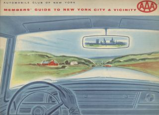 AAA Members' Guide to New York City and Vicinity. Automobile Club of New York