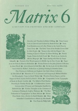 Matrix No. 6: A Review for Printers and Bibliophiles. John Randle, Rosalind Randle