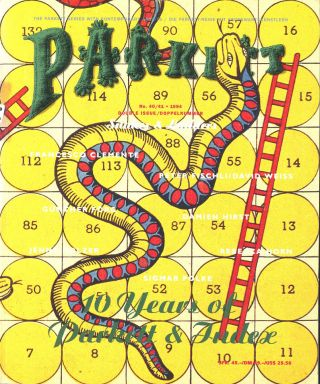 Parkett No. 40/41: Snakes & Ladders (Double Issue: 10 Years of Parkett and Index). Francesco...