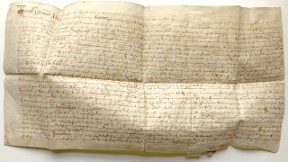 1612 quitclaim deed for transfer of land in Graythwaite, UK, from Robert Rawlinson to a relative