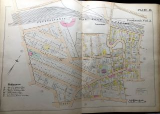 Atlas of the City of Pittsburgh, Vol. 2, comprising the 12th, 13th, & 14th Wards (1889)