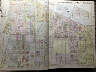 Plat-Book of the City of Pittsburgh, Vol. 7, comprising South Sie and Southern Vicinity (West Half) - 1917