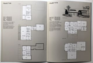 Deck House Inc. boxed set of 10 large pamphlets on various floor plans and concepts
