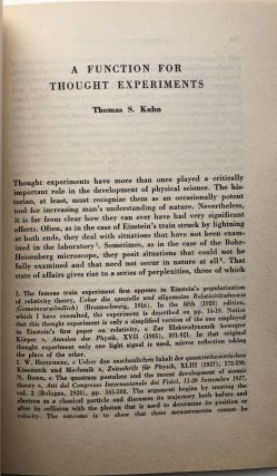A Function for Thought Experiments (1964 offprint)