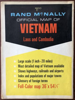 Rand McNally Official Map of Vietnam, Laos and Cambodia