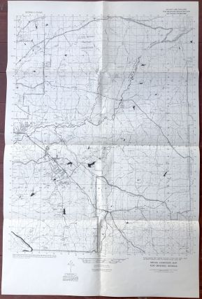 1959 Map: Main post and Lawson Army Air Field, Fort Benning, Georgia; Special composite map, Fort...