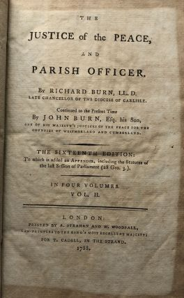 The Justice of the Peace and Parish Officer, Vol. II (2) only