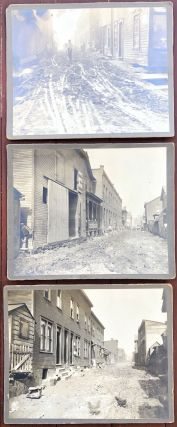 3 8 x 10 photos of Apple Alley near E. Grant Ave, Duquesne PA ca. 1900
