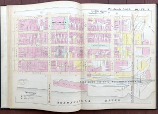 Atlas of the City of Pittsburgh, Vol. 1, Comprising the 1st - 11th Wards (Downtown & Hill District)