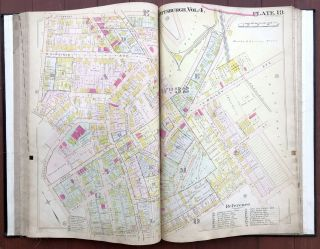 Real Estate Plat-Book of the City of Pittsburgh, Vol. 4, comprising the 24th to the 36th Wards (West End, Mt. Washington, Carrick, South Side, Hays)