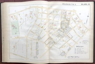 Atlas of the City of Pittsburgh, Vol. IV (4), comprising Wards 16, 20, 22 & 23 (Lawrenceville, Bloomfield, Squirrel Hill, Greenfield, Hazelwood, Nine Mile Run &c.)