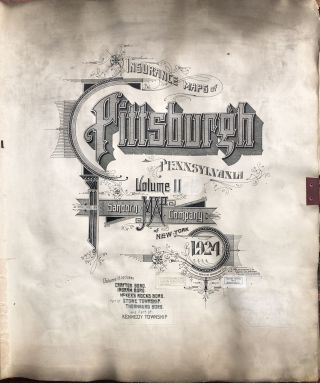(Plat Book): Insurance Maps of Pittsburgh, Pennsylvania, Vol. 11: Crafton, Ingram, McKees Rocks, Stowe, Thornburg, Kennedy