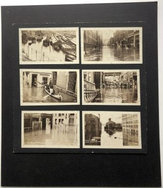 6 snapshots of the 1936 Pittsburgh Flood's effect on the Westinghouse Plant in East Pittsburgh