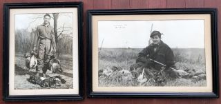 2 large framed 1930s photos of pheasant and duck hunting, Mitchell, South Dakota