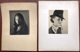 18 original signed photographic portraits of women taken in the late 1930s. Jose Alemany