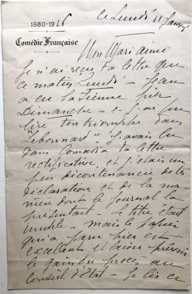 Small Archive of Material relating to Eugene & Louise Silvain, their daughter Jeanne and Jeanne's husband, Edmond Roze