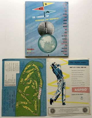 Signed program book for the Canada Cup International Golf Championship, 1960. Arnold Palmer