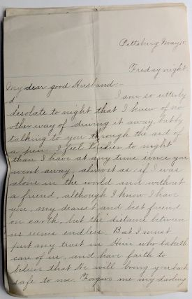 Extraordinary archive of 150 letters between the founder of the Western Pennsylvania Medical School (University of Pittsburgh) and his wife, plus letters from Thomas Spencer Wells, William Stewart Halsted, John Milton Duff, James B. Murdoch and others