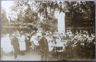 1920 Real Photo Postcard: Opening of the Island of Rest (St. Petersburg, Russia