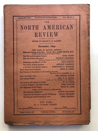 The North American Review, December 1899. Max Nordau Andrew Carnegie, Nora Hopper, W. B. Yeats,...