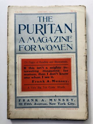 January 1901 The Puritan a Journal for Gentlewomen, with which is combined Godey's Magazine....