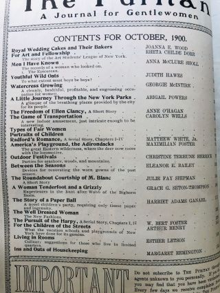 October 1900 The Puritan a Journal for Gentlewomen, with which is combined Godey's Magazine