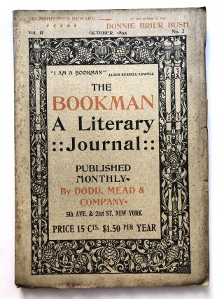 The Bookman, a Literary Journal, October 1895. George Moore Fiona Macleod, Vernon Lee