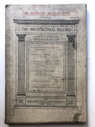 The Architectural Record, Vol. XIV, No. 4, October 1903. Caryl Coleman A. C. David