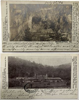 2 1907 postcards of giant anthills in Altoona, PA