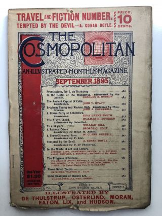 The Cosmopolitan, an Illustrated Monthly Magazine, September 1895. W. Clark Russell A. Conan Doyle