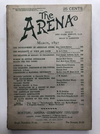 The Arena, March 1897. John Clark Ridpath, Camille Flammarion, ed. Josiah Quincy